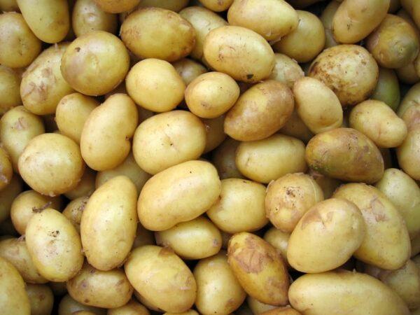 Einige Kartoffeln liegen übereinander